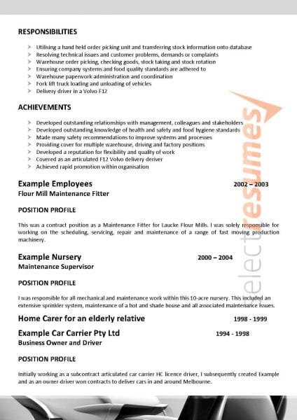 Best resume writing services nj australia
