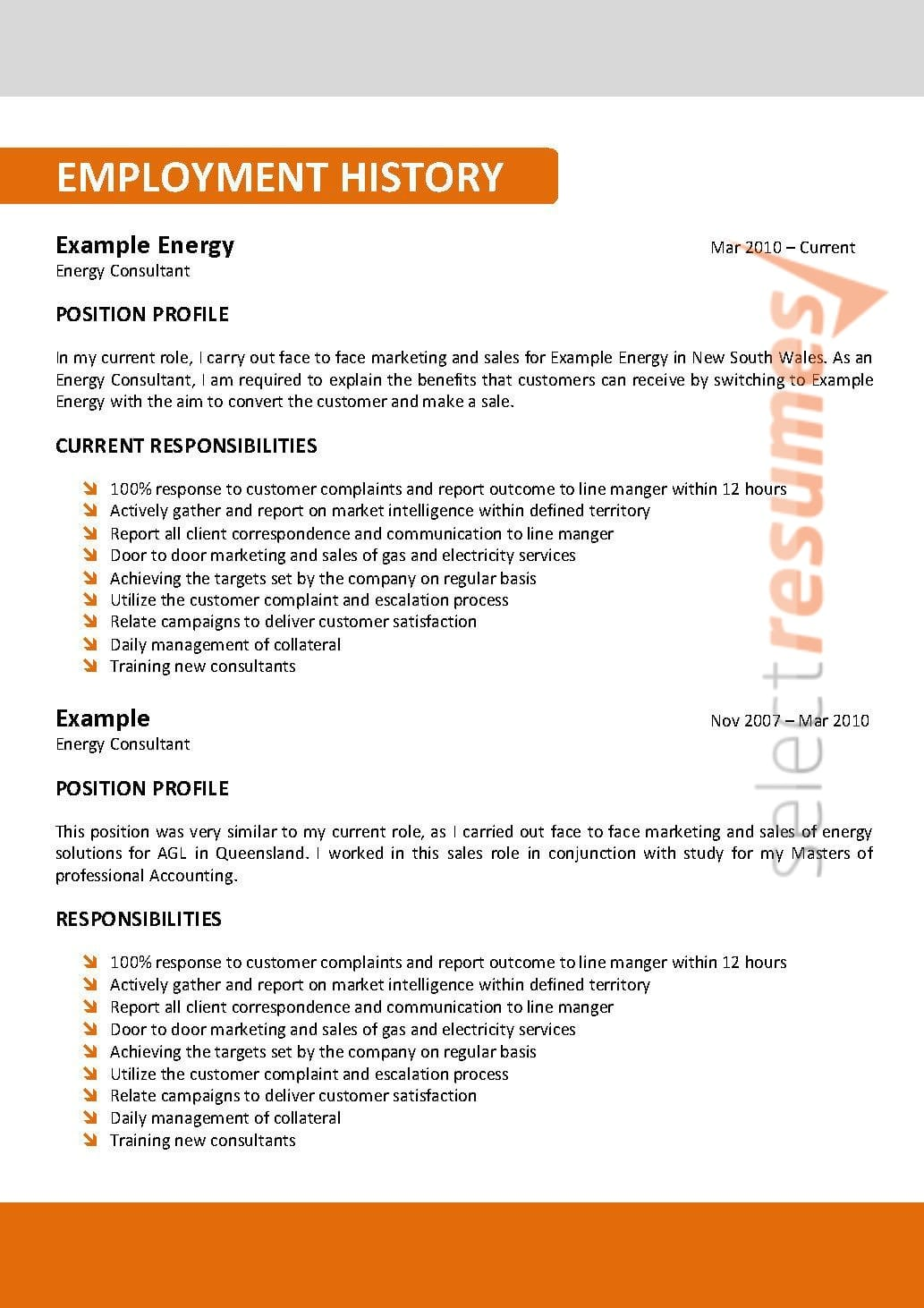 Corporate Design 107 Select Resumes
