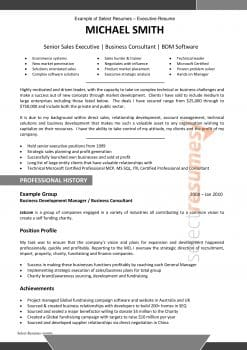 Executive Resume Design