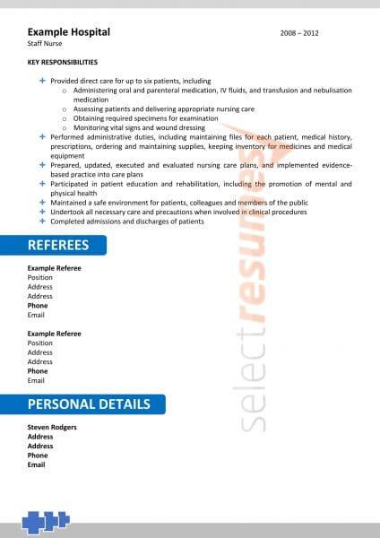 Nursing Resume Design Template