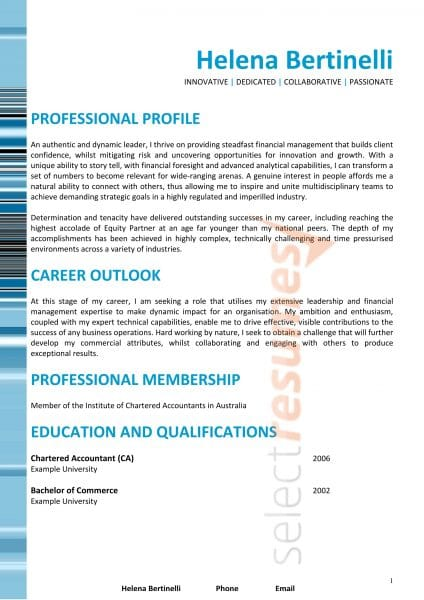 Senior Executive Resume