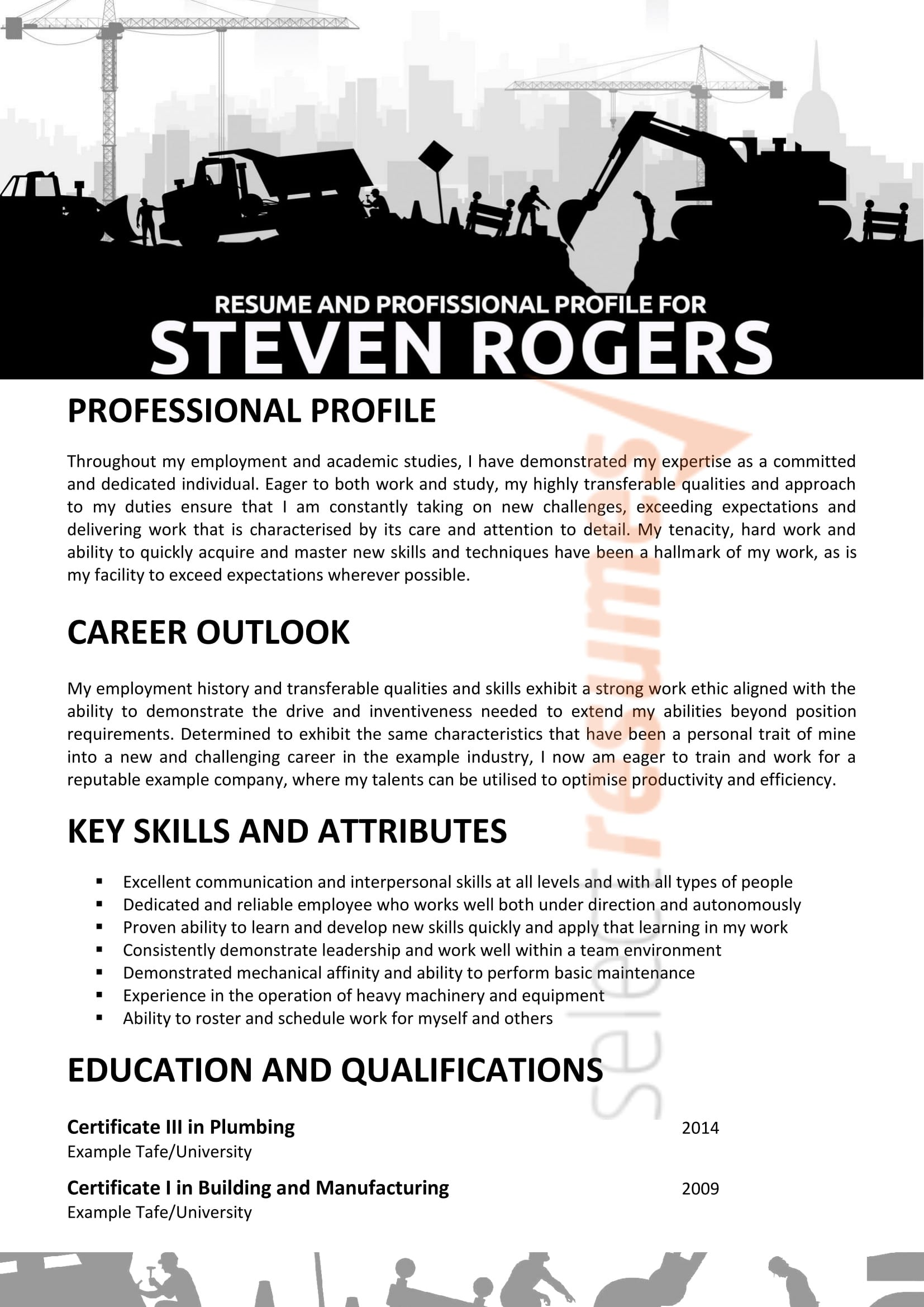 Professional Mining Resume Writing Services  Select Resumes