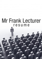 Lecturer Resume Writing